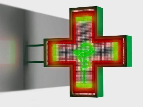 Аптечный крест со сменой изображения
