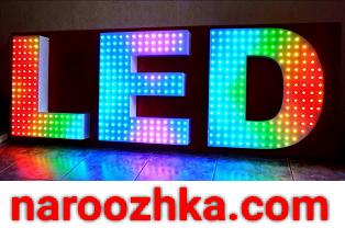 Объемный буквы для уличной разноцветной вывески на led диодах