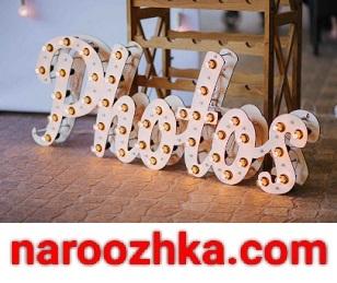 Ретро исполнение вывески с крупными лампочками на рекламной надписи