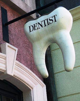 креативная вывеска зуб